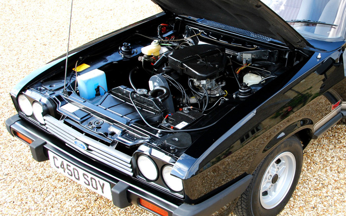 1985 Ford Capri MK3 2.0 Laser Engine Bay