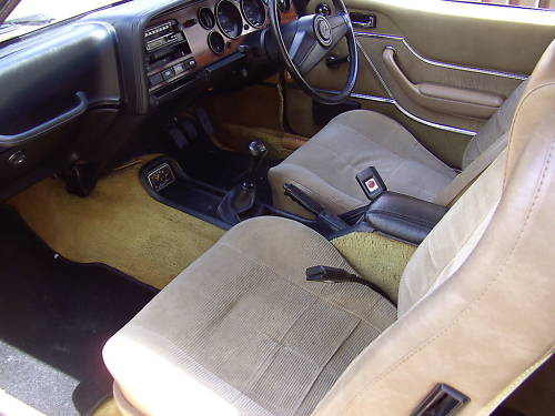 1976 ford capri ii ghia auto gold manual interior