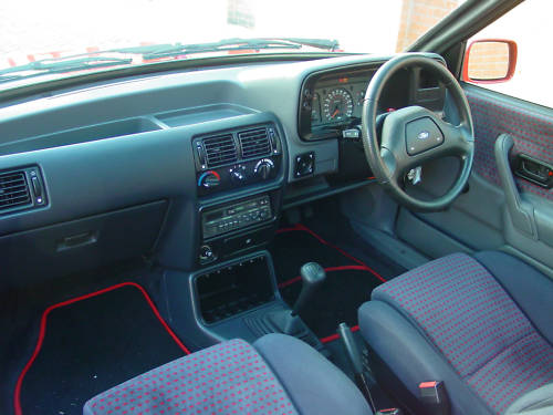 1987 ford escort mk4 xr3i interior