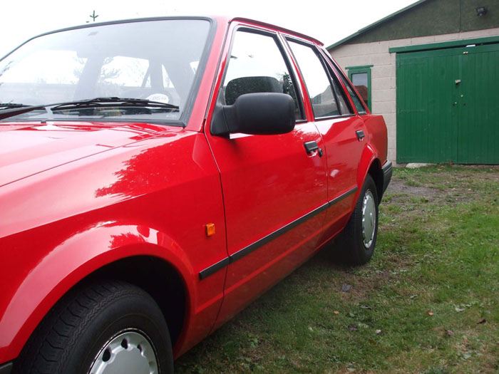 1988 ford escort mk4 1.3 l ohv 8 rosso red