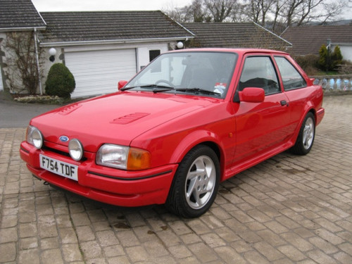 1989 ford escort 1.6 rs turbo series ii standard 1