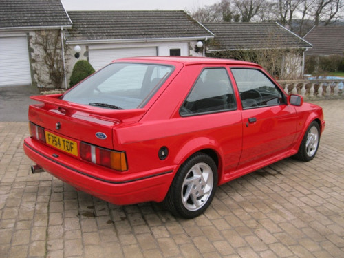 1989 ford escort 1.6 rs turbo series ii standard 2