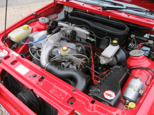 1989 ford escort 1.6 rs turbo series ii standard engine bay
