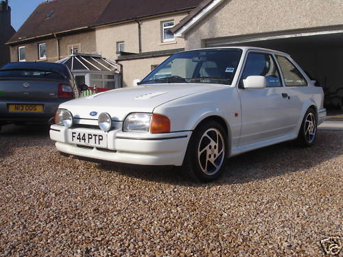 1989 ford escort rs turbo white 1
