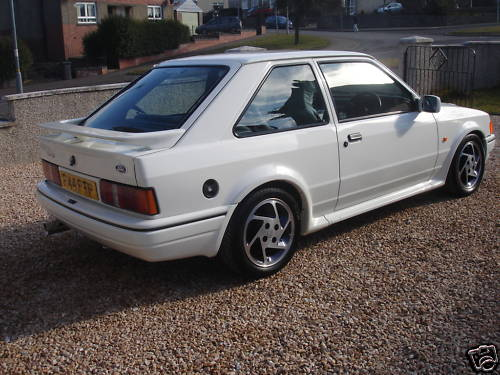 1989 ford escort rs turbo white 3