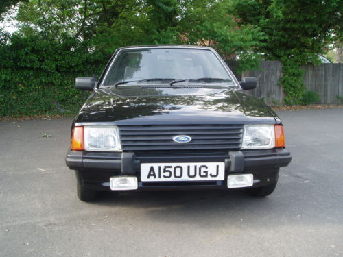 1984 ford escort 1.3 gl mk3 black 5dr 1