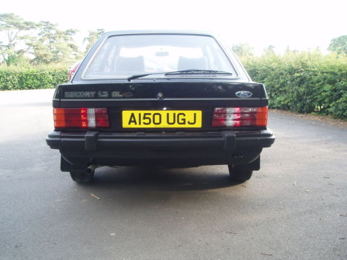 1984 ford escort 1.3 gl mk3 black 5dr 3