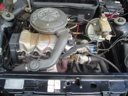 1984 ford escort 1.3 gl mk3 black 5dr engine bay