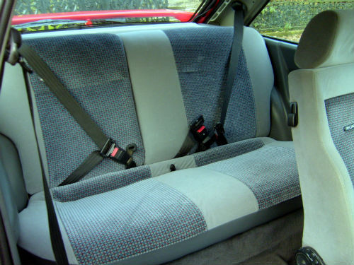 1989 ford escort 1.6 rs turbo back interior