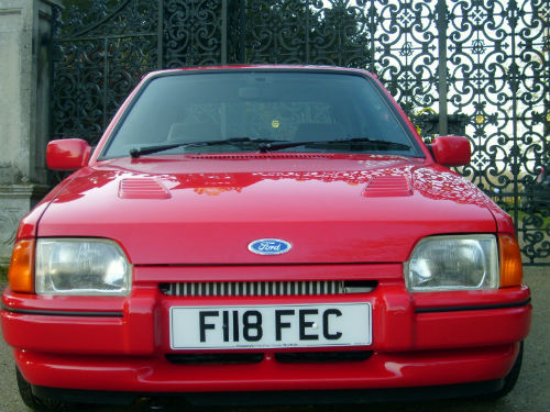 1989 ford escort 1.6 rs turbo front 2
