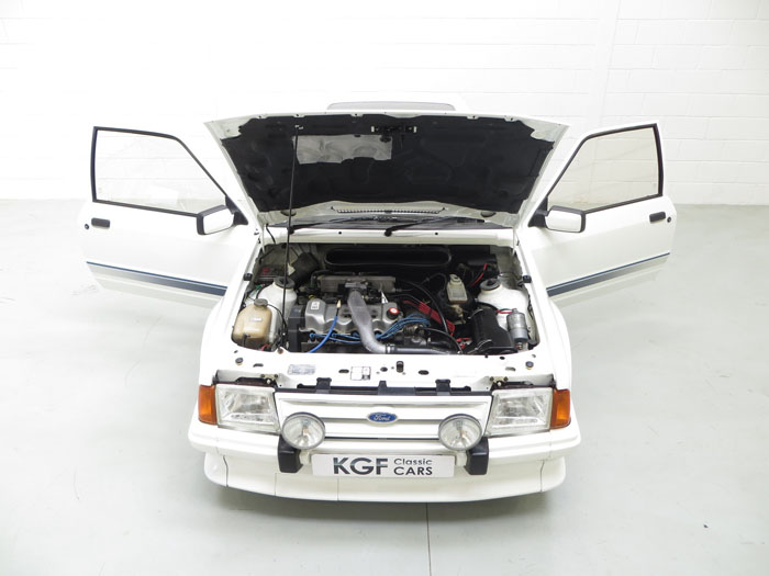 1985 ford escort series 1 rs turbo custom front engine bay