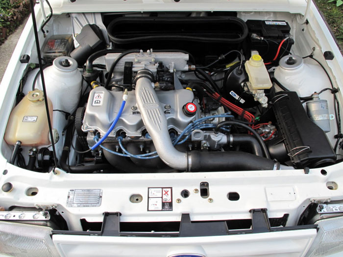 1986 Ford Escort RS Turbo S1 Engine Bay