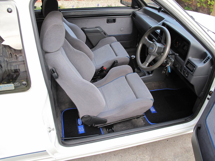 1986 Ford Escort RS Turbo S1 Front Interior