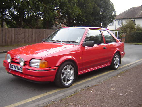 1986 ford escort series 2 rs turbo red 1