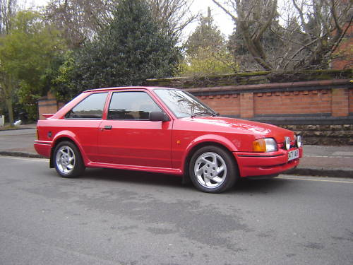 1986 ford escort series 2 rs turbo red 2