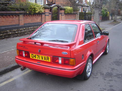 1986 ford escort series 2 rs turbo red 3