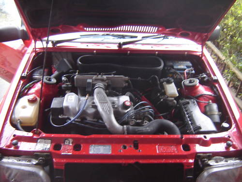 1986 ford escort series 2 rs turbo red engine bay