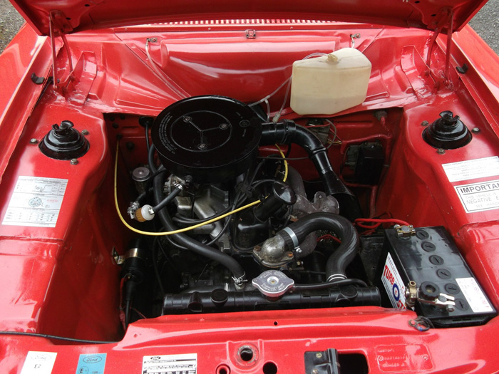 1972 Ford Escort MK1 1100 Engine Bay
