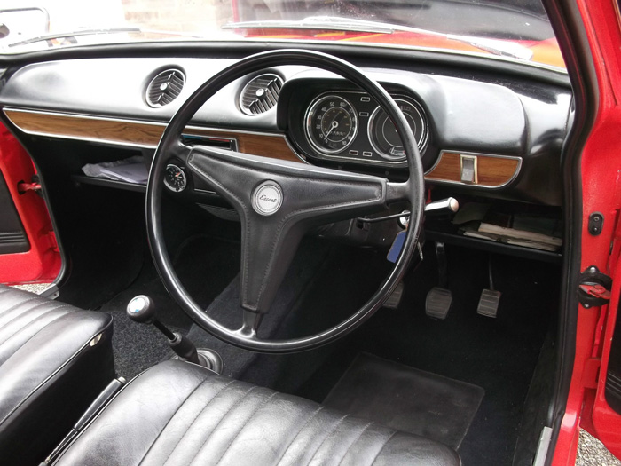 1972 Ford Escort MK1 1100 Interior Dashboard Steering Wheel