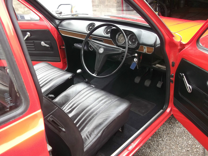 1972 Ford Escort MK1 1100 Interior