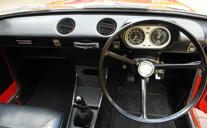1968 Ford Escort MK1 1100 Super Dashboard Steering wheel