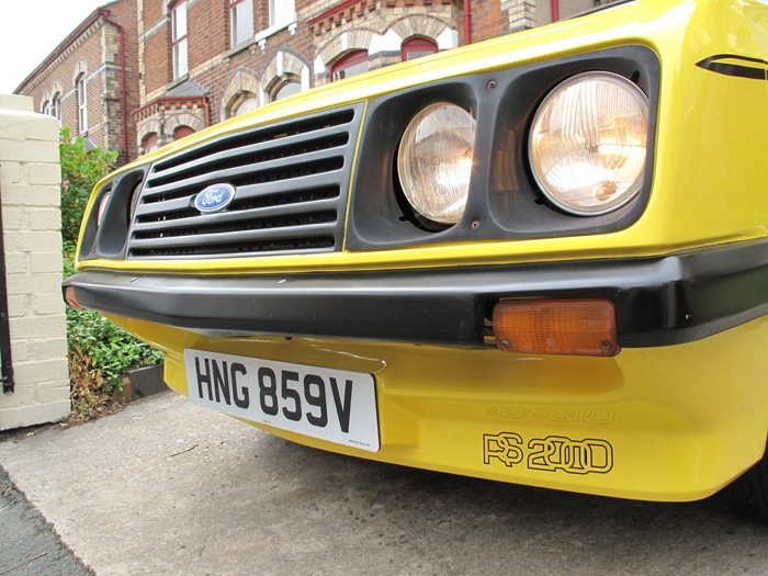 1979 Ford Escort MK2 RS2000 Custom Droop Snoot Front Lights Grille