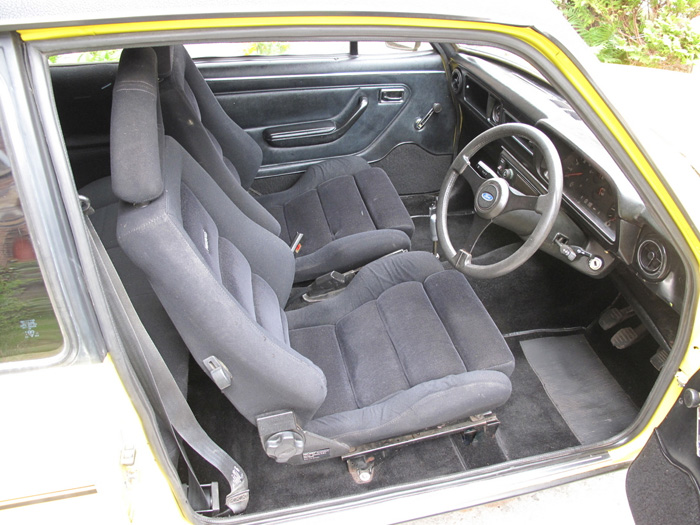 1979 Ford Escort MK2 RS2000 Custom Droop Snoot Interior 1