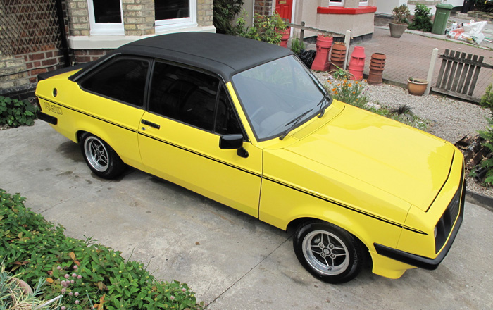 1979 Ford Escort MK2 RS2000 Custom Droop Snoot Overhead