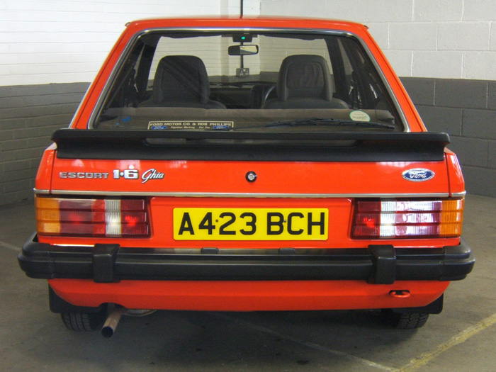 1983 Ford Escort MK3 1.6 Ghia Back