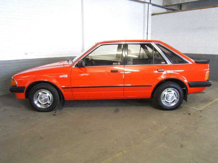1983 Ford Escort MK3 1.6 Ghia Left Side