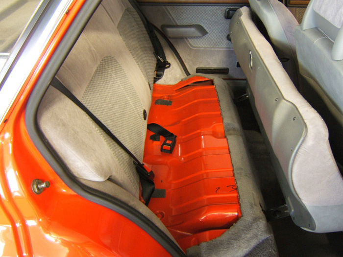 1983 Ford Escort MK3 1.6 Ghia Rear Seats Up