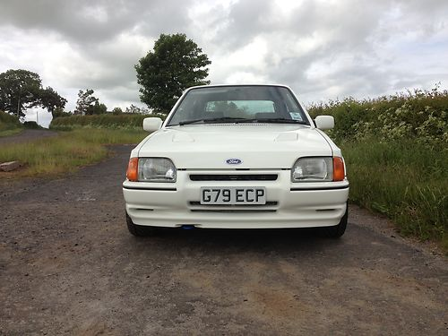 1989 Ford Escort MK4 RS Turbo Front
