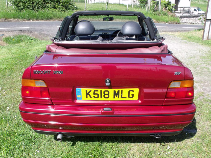 1993 Ford Escort XR3i Convertible Back