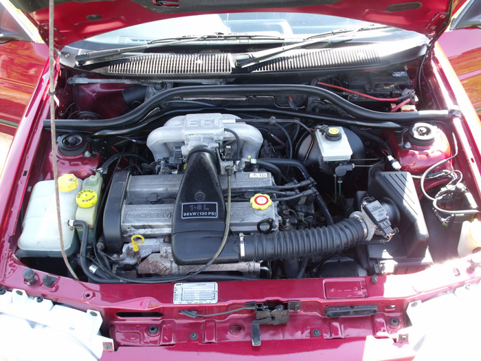 1993 Ford Escort XR3i Convertible Engine Bay
