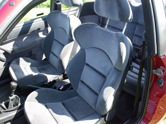 1993 Ford Escort XR3i Convertible Front Seats
