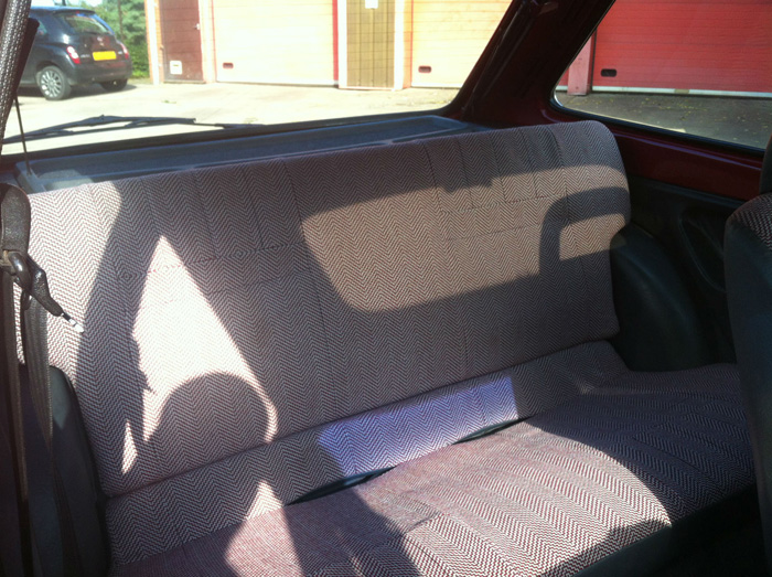 1982 Ford Fiesta MK1 1.1 Bravo 2 Rear Seats