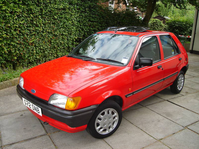 1989 ford fiesta lx red 1