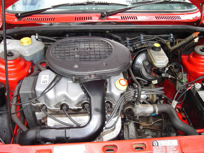 1989 ford fiesta lx red engine bay