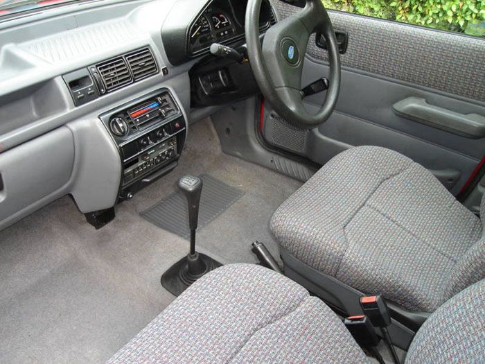 1989 ford fiesta lx red interior 1