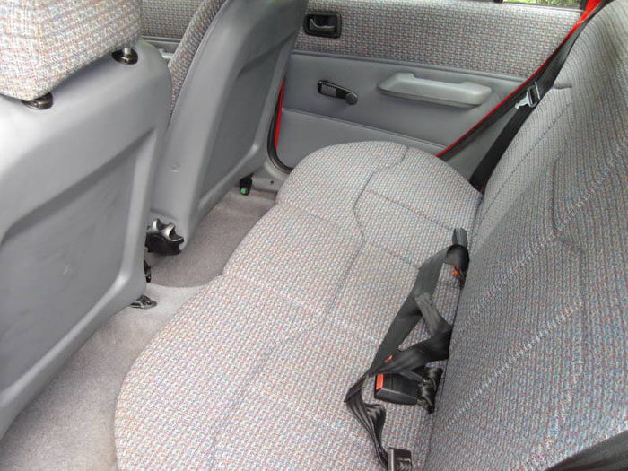1989 ford fiesta lx red interior 2