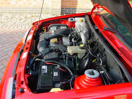 1992 ford fiesta xr2i 1.8 16v engine bay