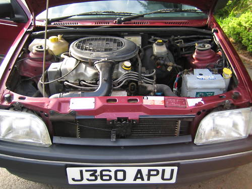 1992 ford fiesta 1.4 ghia engine bay