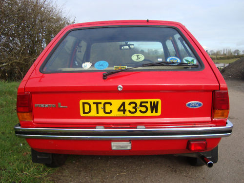 1980 ford fiesta l mark 1 back