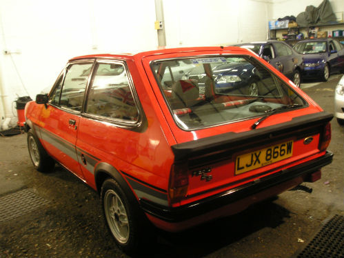 1981 ford fiesta mk1 supersport back