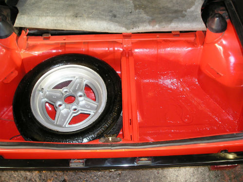1981 ford fiesta mk1 supersport boot floor spare wheel