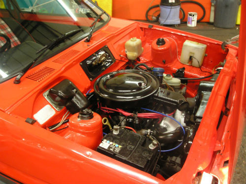 1981 ford fiesta mk1 supersport engine bay