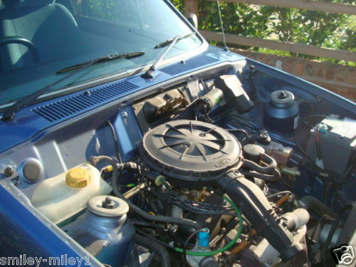 1988 f reg ford fiesta ghia classic car engine bay