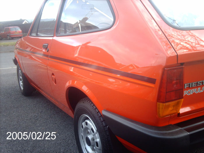1982 ford fiesta popular plus red 1.1l 4