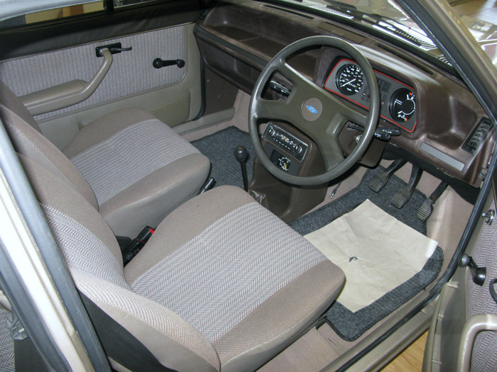 1983 Ford Fiesta MK1 1.1 Finesse Interior