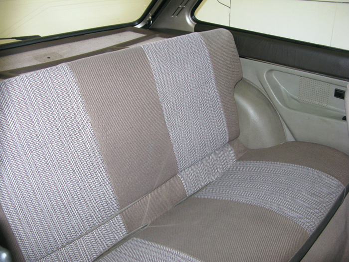 1983 Ford Fiesta MK1 1.1 Finesse Rear Seats